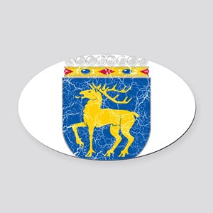 Aland Coat Of Arms Oval Car Magnet
