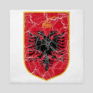 Albania Coat Of Arms Queen Duvet