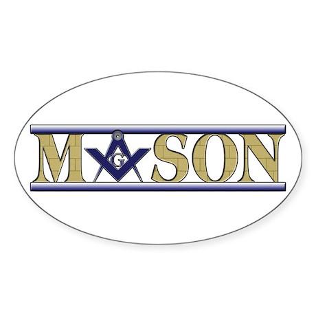 Masons Oval Sticker