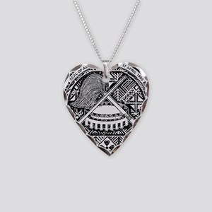 American Samoa Coat Of Arms Necklace Heart Charm