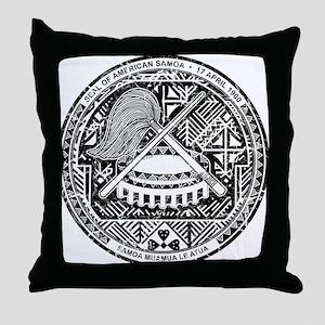 American Samoa Coat Of Arms Throw Pillow