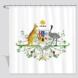 Australia Coat Of Arms Shower Curtain