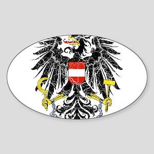 Austria Coat Of Arms Sticker (Oval)