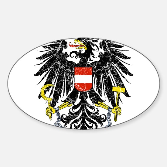 Austria Coat Of Arms Sticker (Oval)