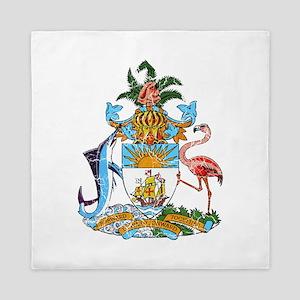 Bahamas Coat Of Arms Queen Duvet