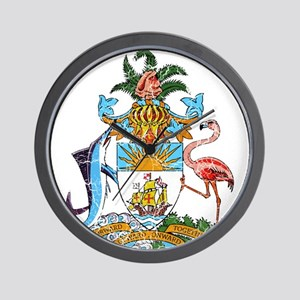 Bahamas Coat Of Arms Wall Clock