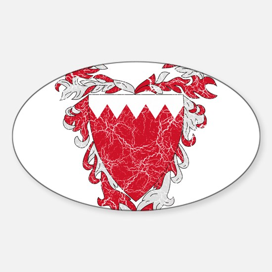Bahrain Coat Of Arms Sticker (Oval)