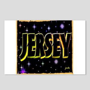 jersey holiday wear illustration art Postcards (Pa