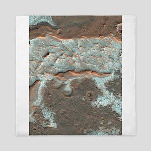 Salt deposits on Mars Queen Duvet