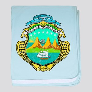 Costa Rica Coat Of Arms baby blanket
