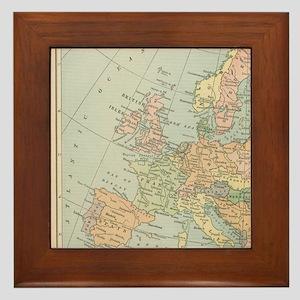 Europe - Framed Tile