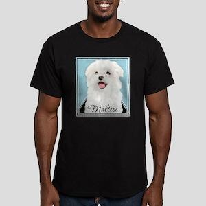 Cute Maltese Men's Fitted T-Shirt (dark)