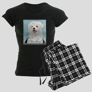 Cute Maltese Women's Dark Pajamas