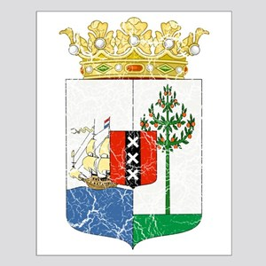 Curacao Coat Of Arms Small Poster