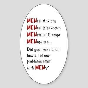 Men Problems - Sticker (Oval)