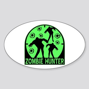Zombie Hunter Sticker (Oval)