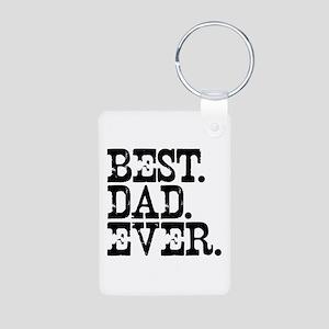 Best Dad Ever Aluminum Photo Keychain