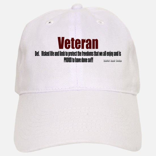 Veteran Definition Baseball Baseball Cap