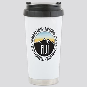Phi Gamma Delta M 16 oz Stainless Steel Travel Mug
