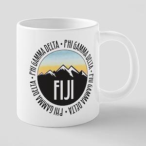 Phi Gamma Delta Mountain Su 20 oz Ceramic Mega Mug