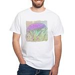 Artichoke Flower White T-Shirt