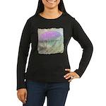 Artichoke Flower Women's Long Sleeve Dark T-Shirt