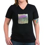 Artichoke Flower Women's V-Neck Dark T-Shirt