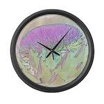 Artichoke Flower Large Wall Clock