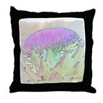 Artichoke Flower Throw Pillow