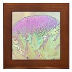 Artichoke Flower Framed Tile