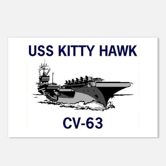 USS KITTY HAWK Postcards (Package of 8)