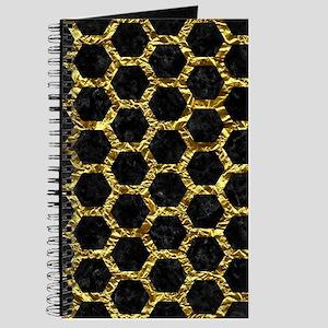 HEXAGON2 BLACK MARBLE & GOLD FOIL Journal