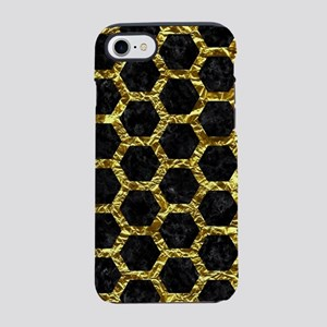 HEXAGON2 BLACK MARBLE & GOLD F iPhone 7 Tough Case