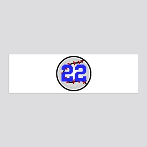 BB/SB Number 36x11 Wall Decal