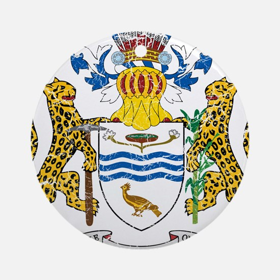 Guyana Coat Of Arms Ornament (Round)