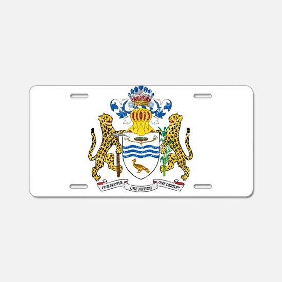 Guyana Coat Of Arms Aluminum License Plate