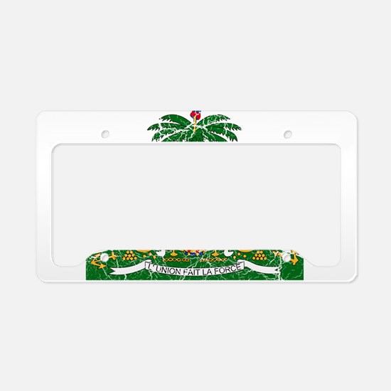 Haiti Coat Of Arms License Plate Holder