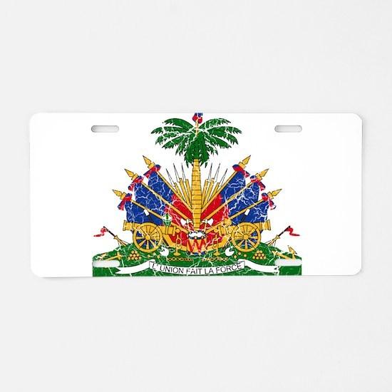 Haiti Coat Of Arms Aluminum License Plate