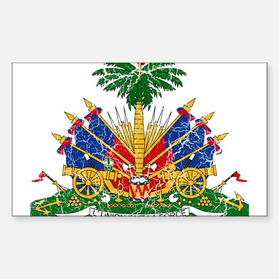Haiti Coat Of Arms Sticker (Rectangle)