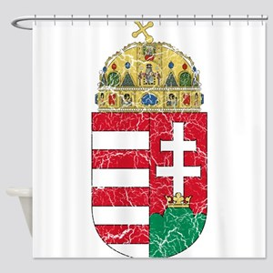 Hungary Coat Of Arms Shower Curtain