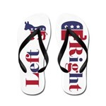 Left Donkey/Right Elephant Flip Flops