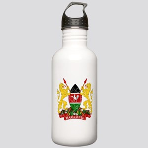 Kenya Coat Of Arms Stainless Water Bottle 1.0L