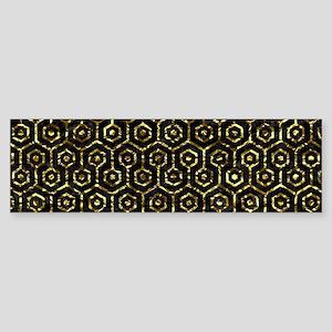 HEXAGON1 BLACK MARBLE & GOLD FOIL Sticker (Bumper)