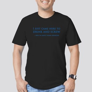 Drink And Screw Men's Fitted T-Shirt (dark)