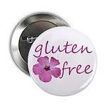 """gluten-free hibiscus- 2.25"""" Button"""