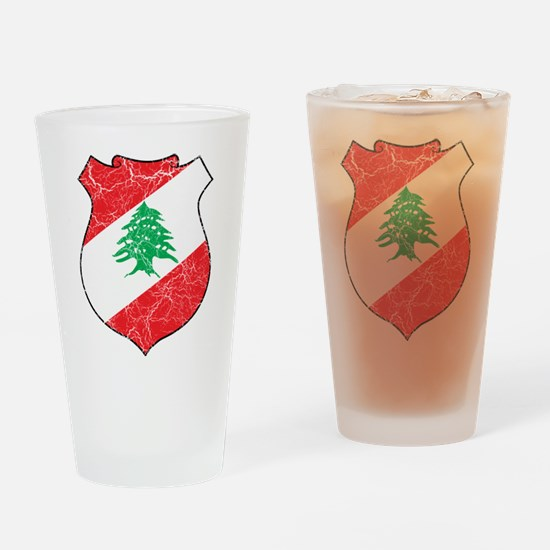 Lebanon Coat Of Arms Drinking Glass