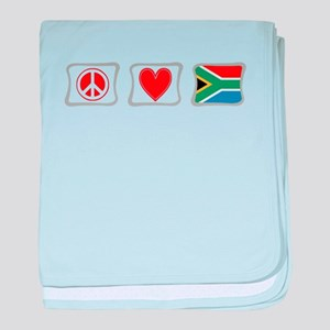 Peace, Love and South Africa baby blanket