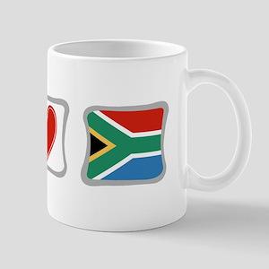 Peace, Love and South Africa Mug