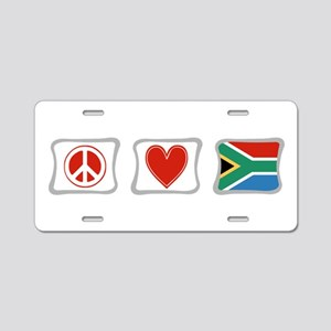 Peace, Love and South Africa Aluminum License Plat