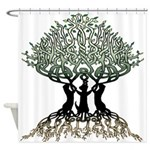 Ferret Tree Shower Curtain